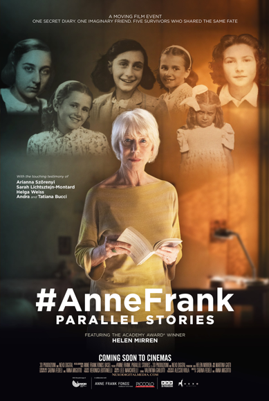 Cineplex Events' In The Gallery Series Remembers Anne Frank in #AnneFrank Parallel Stories, Narrated by Helen Mirren