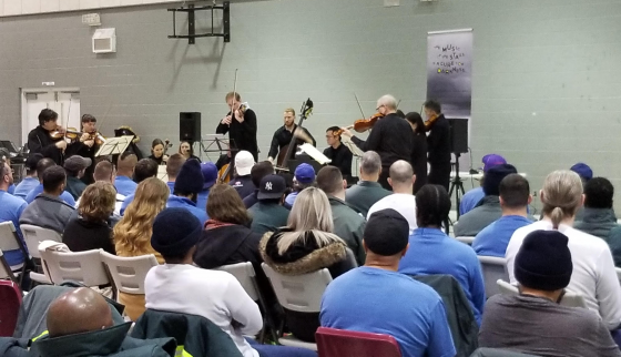 TSO Makes History with Looking at the Stars Performing Vivaldi's Four Seasons at Correctional Institutions in Kingston and Warkworth