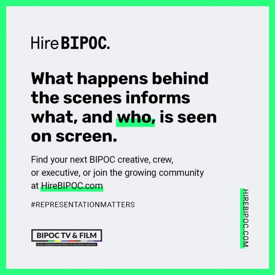 CANADA'S BROADCASTERS AND INDUSTRY LEADERS STAND TOGETHER IN UNPRECEDENTED COLLABORATION TO TAKE MEANINGFUL ACTION AGAINST SYSTEMIC RACISM IN SCREEN-BASED INDUSTRIES WITH LAUNCH OF HIREBIPOC INITIATIVE