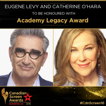 EUGENE LEVY AND CATHERINE O'HARA TO BE HONOURED WITH ACADEMY LEGACY AWARD